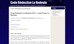Code reduction la redoute - Reduction la redoute meuble ...