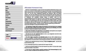 Homework help for u