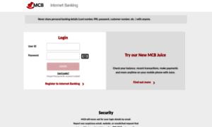 mcb on line banking