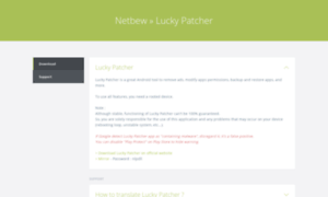 lucky patcher netbew