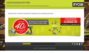Www Mon Bonus Ryobi Com : mon bonus mon bonus ryobi toutes les ~ Dailycaller-alerts.com Idées de Décoration