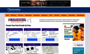 discovery education online puzzlemaker The well-known puzzlemaker from discovery education lets you make a lot of  other word games for print-out, but not crossword puzzles.