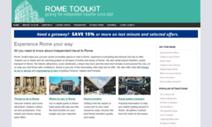 Rome hotels and the best bus tours, sights and air transfers