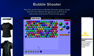 easy bubble shooter