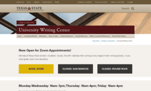 university of texas writing center Writing center services who we serve: the writing center staff serves all undergraduate and graduate students at angelo state university regardless of skill level or discipline students are welcome to visit us on a drop-in basis.