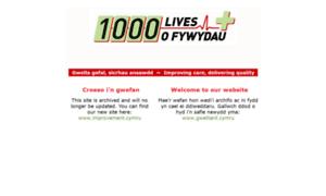 1000livesplus.wales.nhs.uk thumbnail