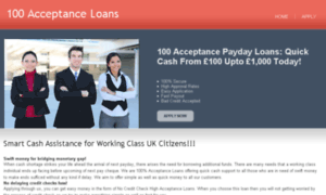 100acceptanceloans.co.uk thumbnail