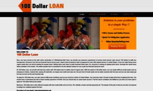 100dollarloan.net thumbnail