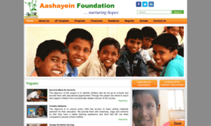 Aashayeinfoundation.org thumbnail