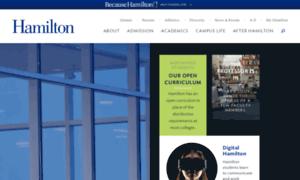 Academics.hamilton.edu thumbnail
