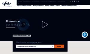 Afnic.fr thumbnail