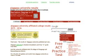Alagappauniversityresults.in thumbnail