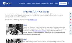 Archives.avid.org thumbnail