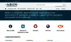 Arin.net thumbnail