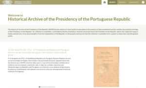 Arquivo.presidencia.pt thumbnail