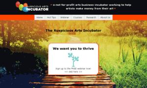 Auspiciousartsincubator.net thumbnail