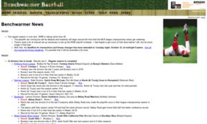 Benchwarmerbaseball.net thumbnail