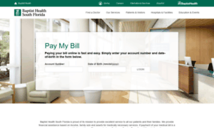 Billpay.baptisthealth.net thumbnail