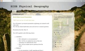 Bisbphysicalgeography.blogspot.co.at thumbnail