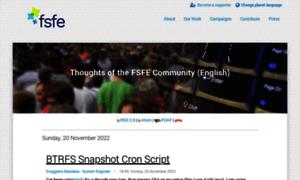 Blogs.fsfe.org thumbnail