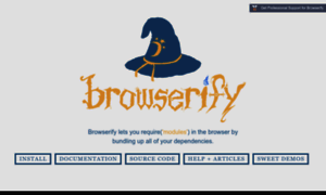 Browserify.org thumbnail