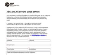 Buyersguide.asha.org thumbnail