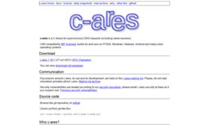 C-ares.haxx.se thumbnail