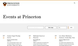 Calendar.princeton.edu thumbnail