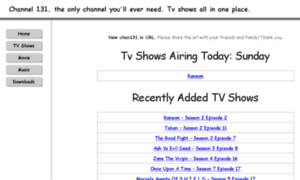 Chan131.so: Channel 131 - Watch TV Shows Online Free on CH131