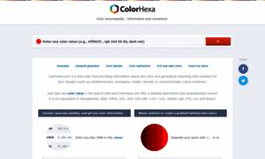 Colorhexa.com thumbnail