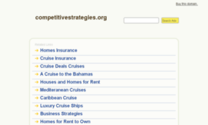 Competitivestrategies.org thumbnail