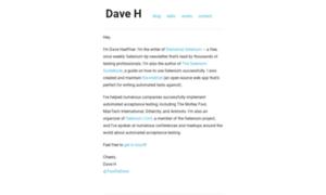 Davehaeffner.com thumbnail