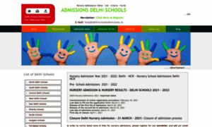 Delhischooladmissions.in thumbnail