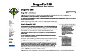 Dragonflybsd.org thumbnail