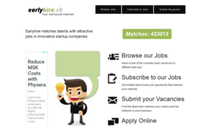 Earlyhire.ch thumbnail