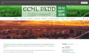 Ecmlpkdd2018.org thumbnail
