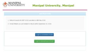 Entrancerefund.manipal.edu thumbnail