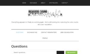 Exchange.designingsound.org thumbnail