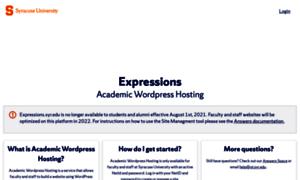 Expressions.syr.edu thumbnail