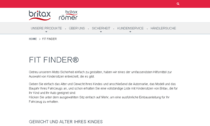 Fitfinder.britax-roemer.de thumbnail
