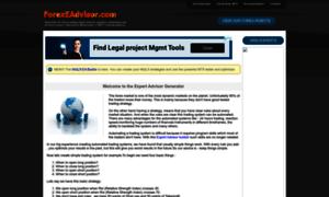 Forex advisor generator