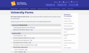 Forms.shsu.edu thumbnail