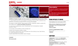 Gaspar.epfl.ch thumbnail