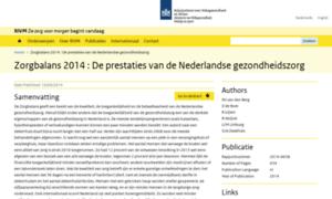 Gezondheidszorgbalans.nl thumbnail