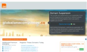 Globalonecompanies.co thumbnail