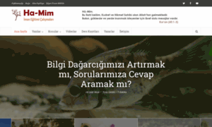 ha-mim.org - Ha-Mim  Tahkiki İmân Eğitimi Çalışmaları