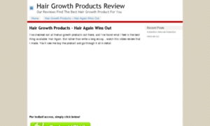 Hairgrowthproductsreview.net thumbnail