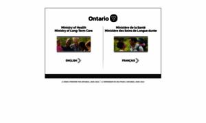 Health.gov.on.ca thumbnail