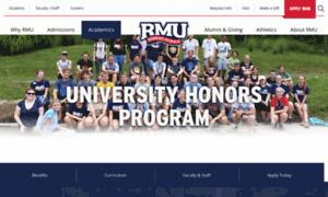 Honors.rmu.edu thumbnail