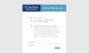 Hsmail ucsd edu: Outlook Web App